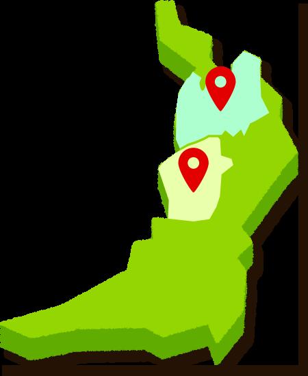 大阪の対象エリア地図